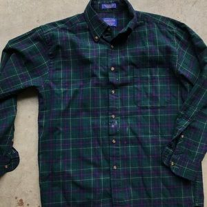 Pendleton wool plaid shirt men's green